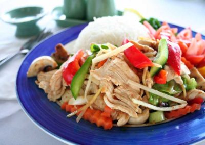 Chicken with Fresh Ginger
